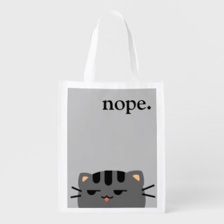 Nope Kitty Market Totes