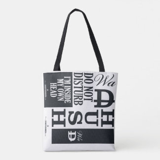 Nope : Peopled Out : Own Head : Hush Tote Bag