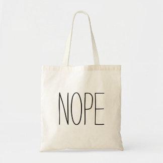 Nope Tote Bag