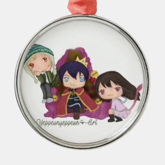Noragami ~ Yato Hiyori Yukine Silver-Colored Round Ornament