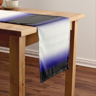 Nordic Blue Black|Blue|White Short Table Runner