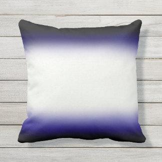Nordic Blue Black|Blue|White Throw Pillow