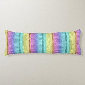 Nordic Boho Bohemian Tribal Rainbow Unique Aztec Body Pillow