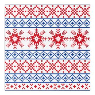 Nordic Christmas Snowflake Borders Acrylic Wall Art