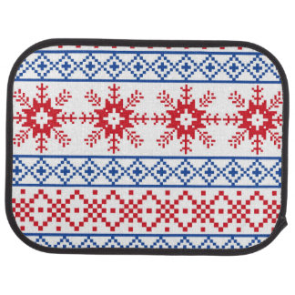 Nordic Christmas Snowflake Borders Car Carpet