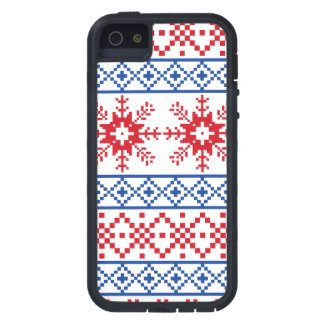 Nordic Christmas Snowflake Borders Case For The iPhone 5