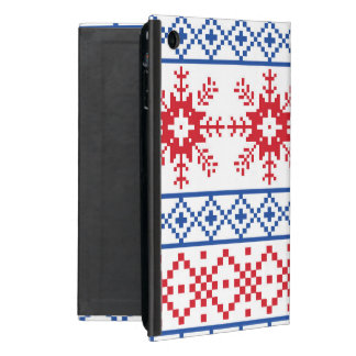 Nordic Christmas Snowflake Borders Cover For iPad Mini