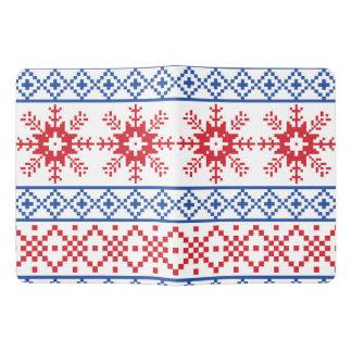 Nordic Christmas Snowflake Borders Extra Large Moleskine Notebook