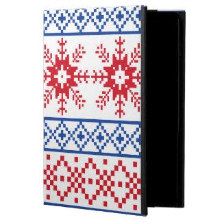 Nordic Christmas Snowflake Borders iPad Air Cover