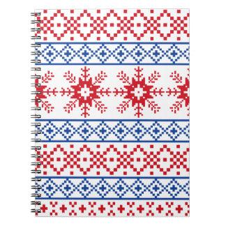 Nordic Christmas Snowflake Borders Notebooks