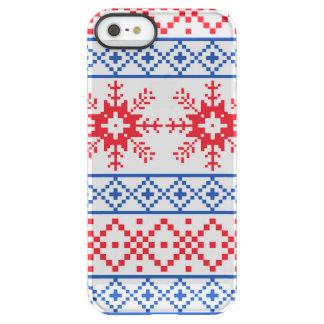 Nordic Christmas Snowflake Borders Permafrost® iPhone SE/5/5s Case