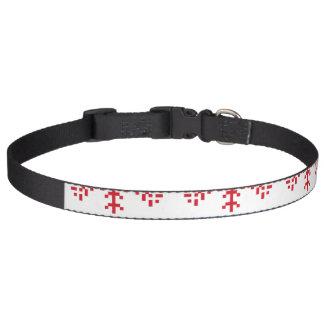 Nordic Christmas Snowflake Borders Pet Collar