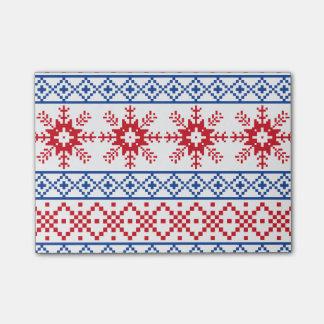 Nordic Christmas Snowflake Borders Post-it® Notes