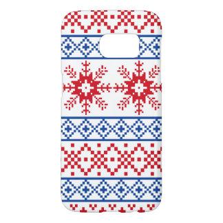 Nordic Christmas Snowflake Borders Samsung Galaxy S7 Case
