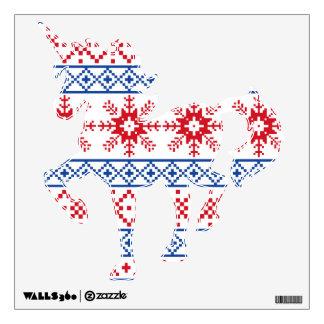 Nordic Christmas Snowflake Borders Wall Decal