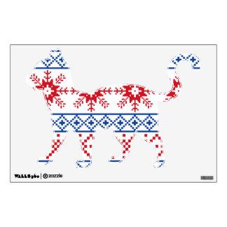 Nordic Christmas Snowflake Borders Wall Sticker
