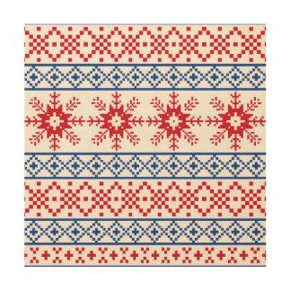 Nordic Christmas Snowflake Borders Wood Wall Decor