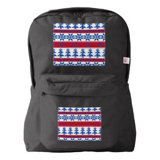 Nordic Christmas Trees Backpack