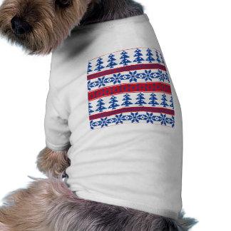 Nordic Christmas Trees Dog T-shirt