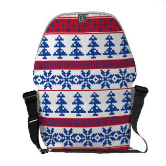 Nordic Christmas Trees Messenger Bag