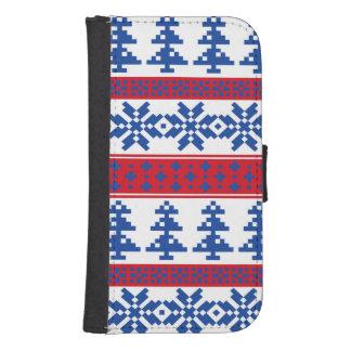 Nordic Christmas Trees Phone Wallet