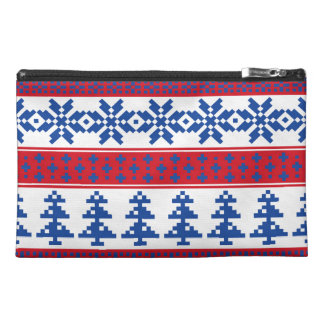 Nordic Christmas Trees Travel Accessory Bag
