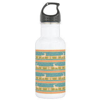 Nordic Ethnic New Year pattern. 532 Ml Water Bottle