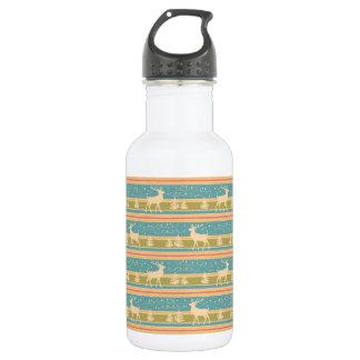 Nordic Ethnic New Year pattern. 532 Ml Water Bottle