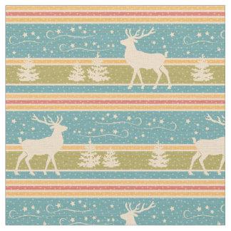 Nordic Ethnic New Year pattern. Fabric
