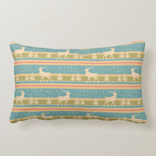 Nordic Ethnic New Year pattern. Lumbar Pillow