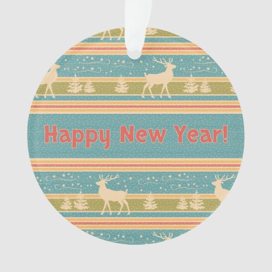 Nordic Ethnic New Year pattern. Ornament
