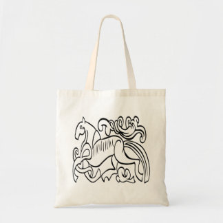 Nordic Horse black and white graphic image Bag