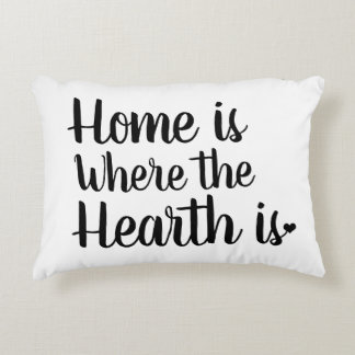 Nordic Hygge Style | Home is Where the Hearth Is Accent Pillow
