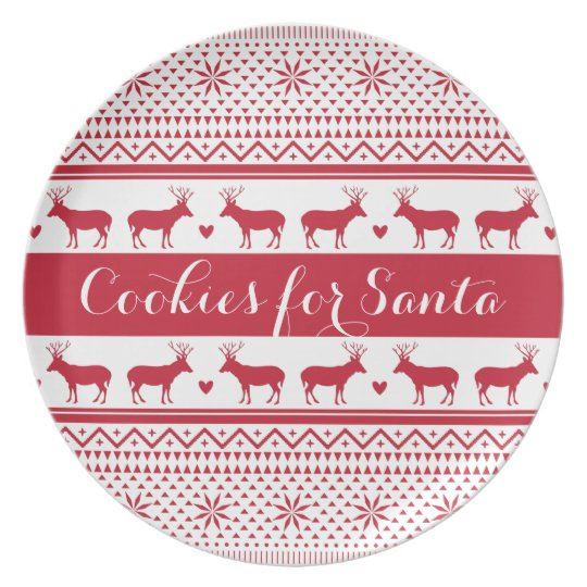 Nordic Pattern Cookies for Santa Plate