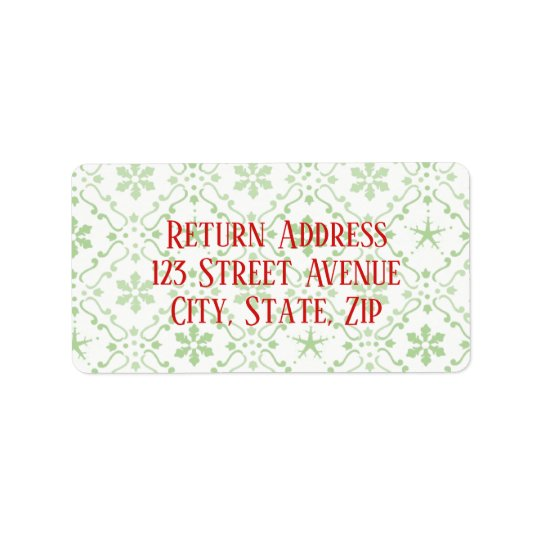 Nordic Pattern Holiday Mailing Label