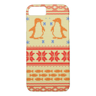 Nordic pattern penguin iPhone 8/7 case