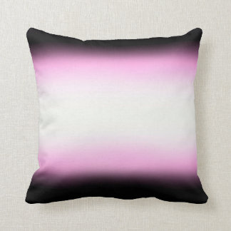 Nordic Pink Black|Pink|White Throw Pillow