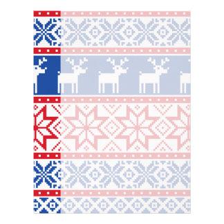 Nordic Reindeer and Snowflakes Letterhead