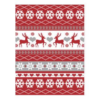 Nordic Reindeer Holiday Postcard