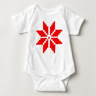 Nordic Snowflake Baby Bodysuit