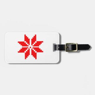 Nordic Snowflake Luggage Tag