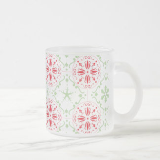 Nordic Snowflake Pattern Frosted Mug