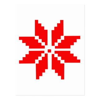 Nordic Snowflake Postcard