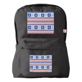 Nordic Snowflakes Christmas Pattern Backpack