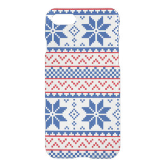 Nordic Snowflakes Christmas Pattern iPhone 7 Case