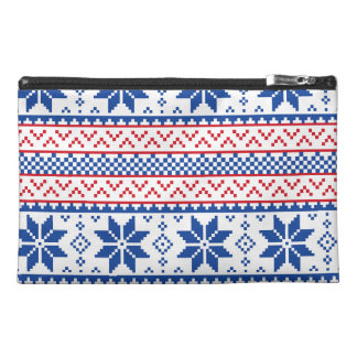Nordic Snowflakes Christmas Pattern Travel Accessory Bag