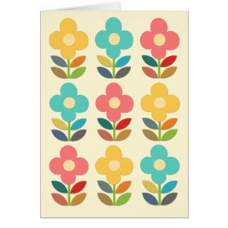 Nordic Style Stems and Floral Card