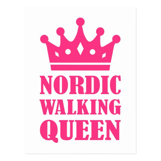 Nordic Walking queen Postcard