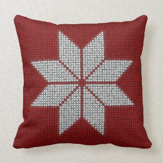Nordic Winter Snowflake Christmas Pattern Pillow