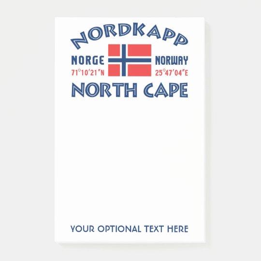 NORDKAPP Norway Post-It notes